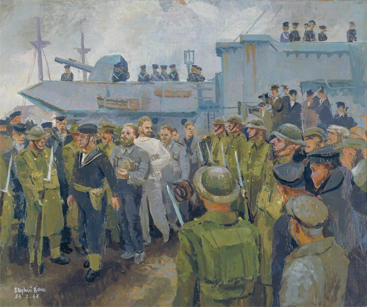 U-Boat Prisoners Landing from HMS 'Starling', 24 February 1944