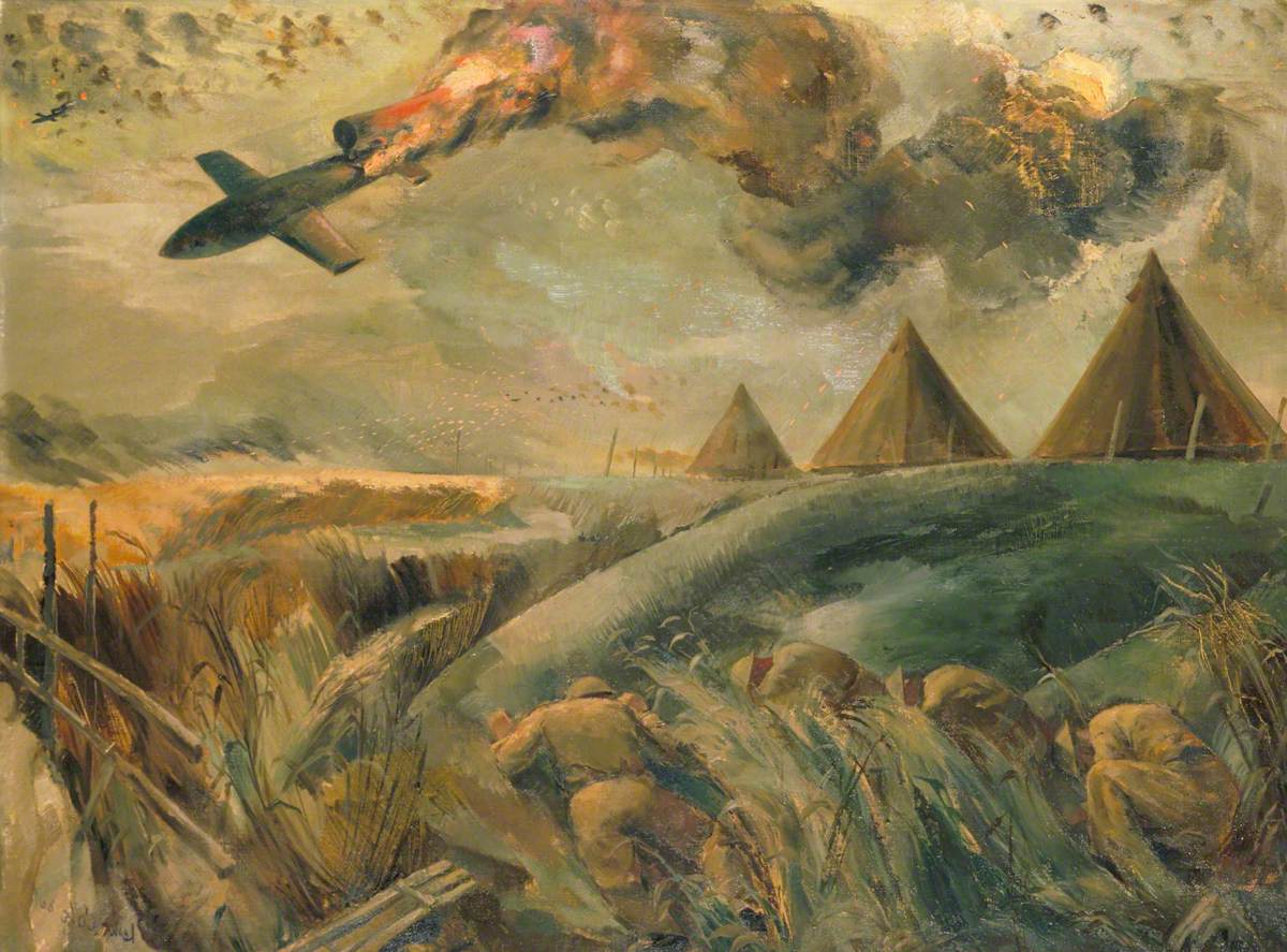 Battle of London: Royal Marine Anti-Aircraft Gunners Bring down a Flying Bomb