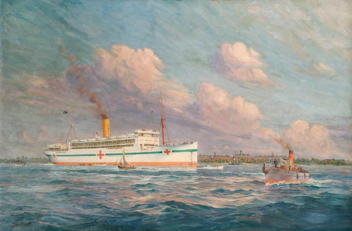 HM Hospital Ship 'Llandovery Castle', Union Castle Line, Sunk by Enemy Submarines, 27 June 1918
