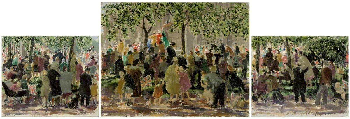 VE-Day Celebrations outside Buckingham Palace