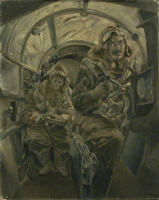 The Interior of an Aircraft in Flight