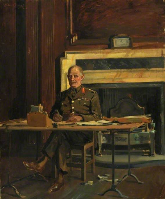 General Lord Gort (1886–1946), VC, at the Headquarters of the British Expeditionary Force