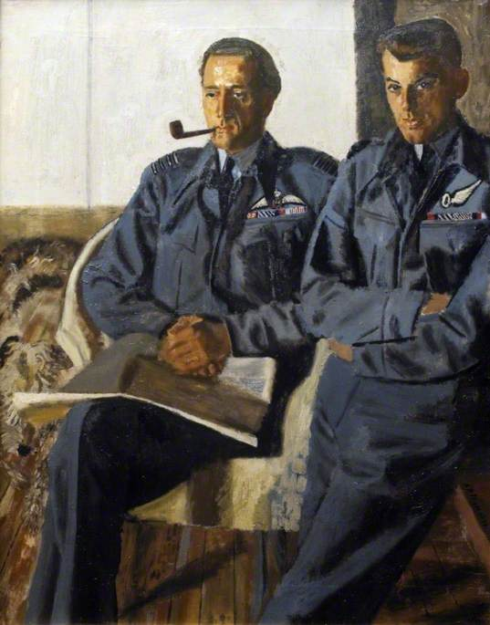 Group Captain P. C. Pickard (1915–1944), DSO, and Two Bars, DFC, and Flight Lieutenant J. A. Broadley (1921–1944), DS, DFC, DFM