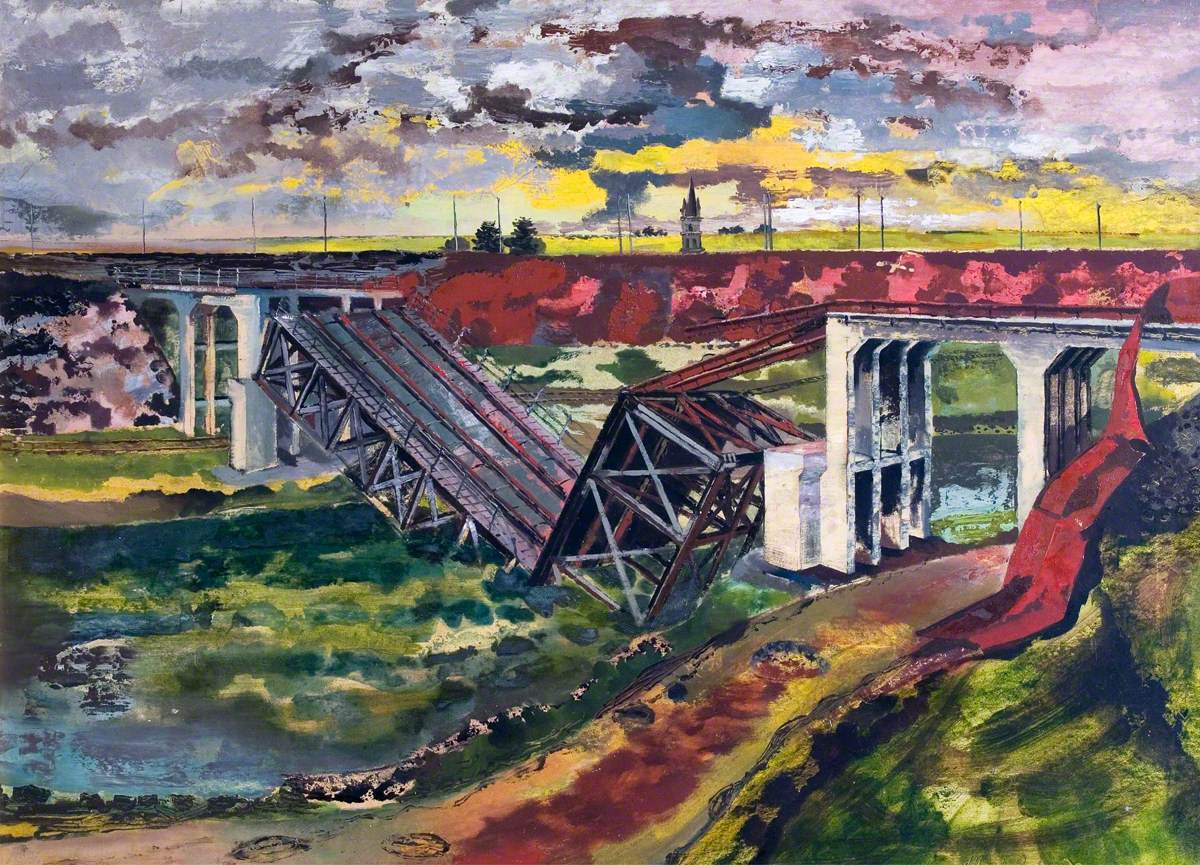 The Beginning of the Advance, France: German Bridge Demolition