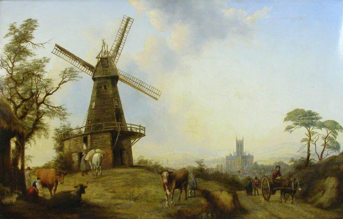 Windmill on St Martin's Hill, Canterbury, Kent