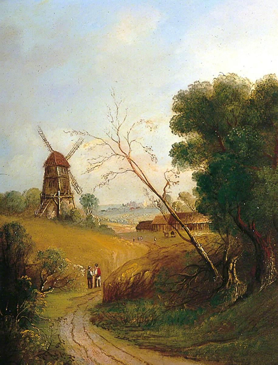 Windmill in a Cornfield