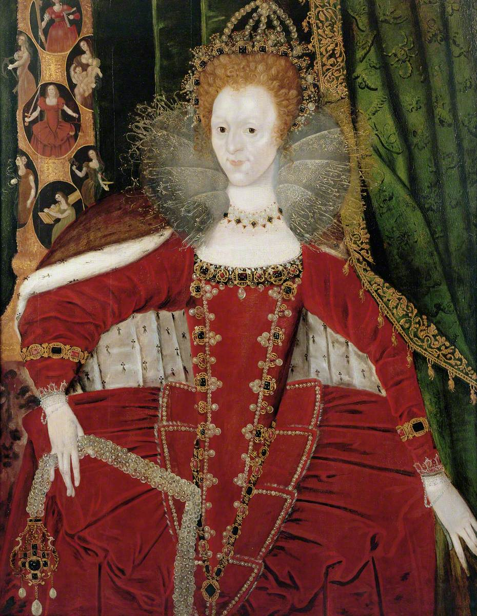 Queen Elizabeth I (1533–1603) and the Cardinal and Theological Virtues