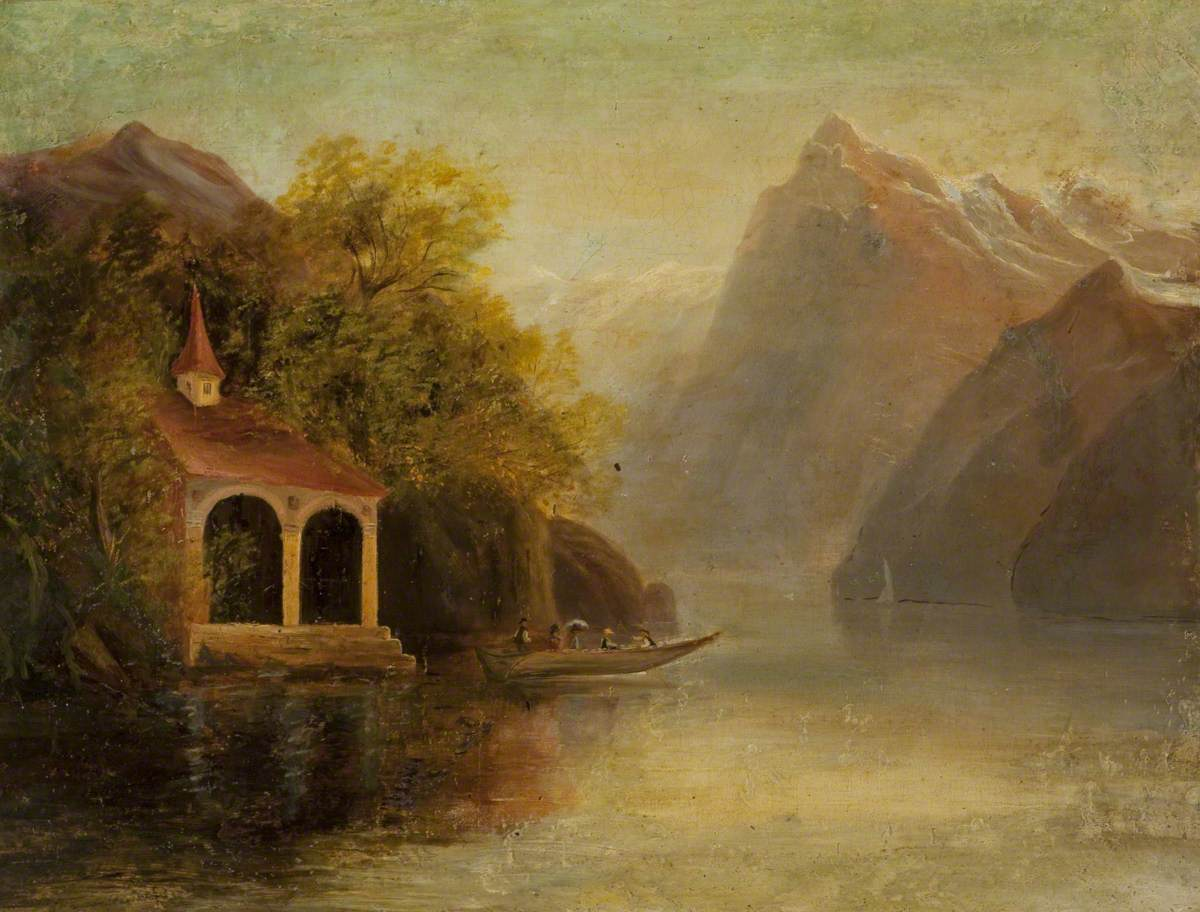 Lake Lucerne with William Tell's Chapel