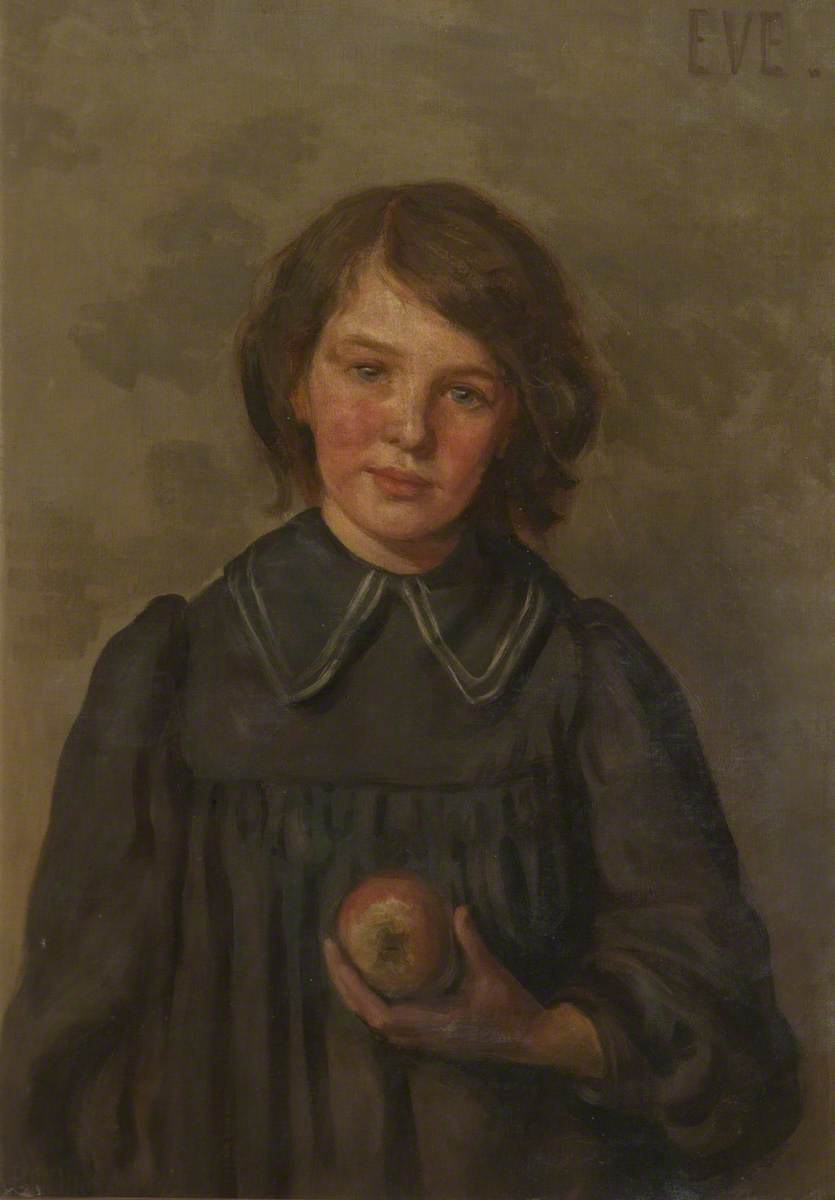 Portrait of a Girl with an Apple