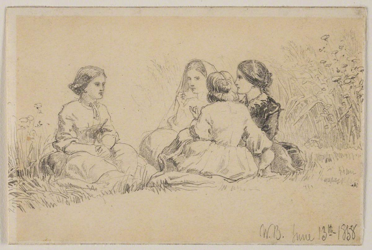 Four Young Women, Seated