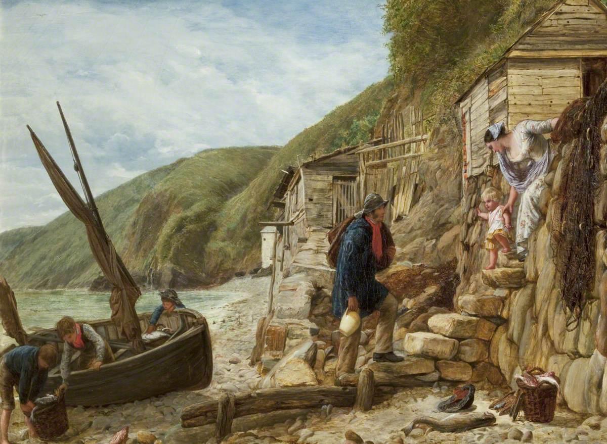 Welcome, Bonny Boat! The Fisherman's Return (Scene at Clovelly, North Devon)