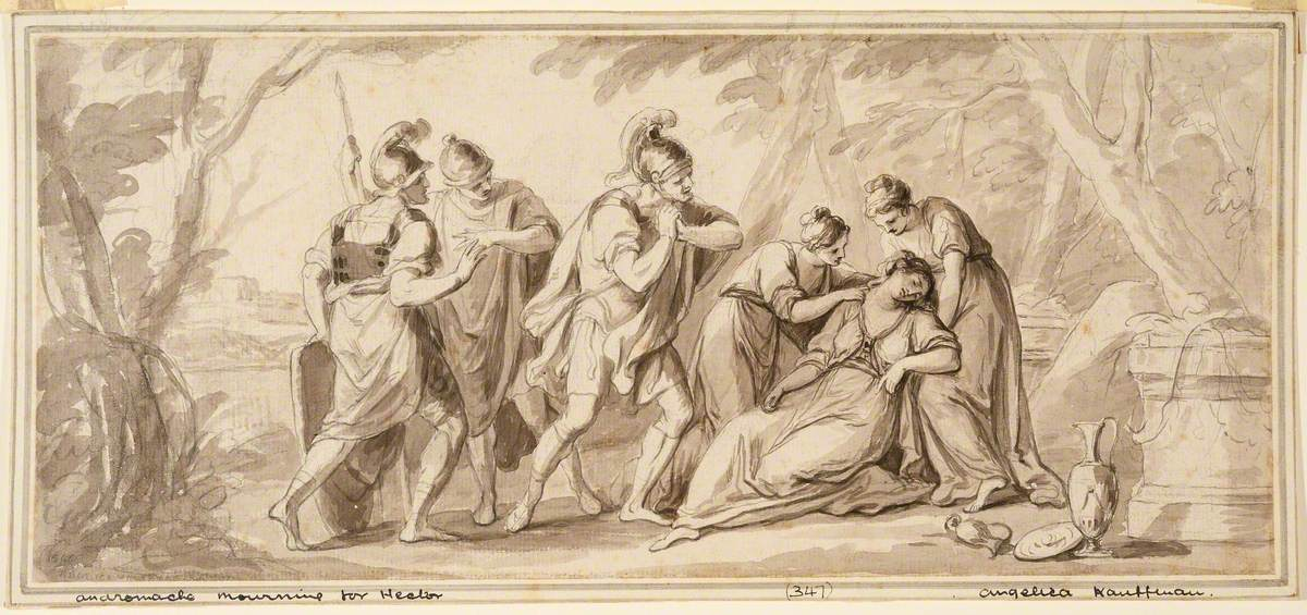Andromache Mourning for Hector (Andromache Fainting at the Unexpected Sight of Aeneas upon His Arrival in Epirus)