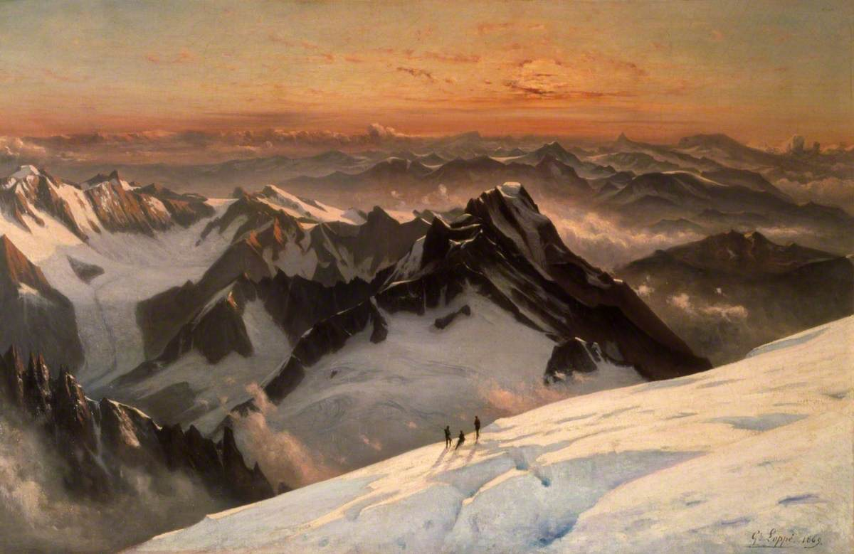 View from Mont Blanc Summit, Sunrise