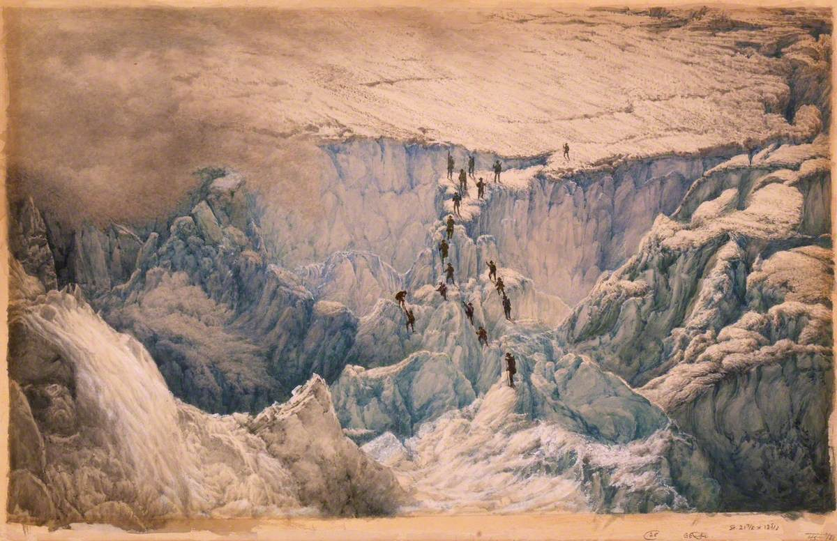 Third Ascent of Mount Blanc by De Saussure, Balmat and 17 Other Men in August 1787