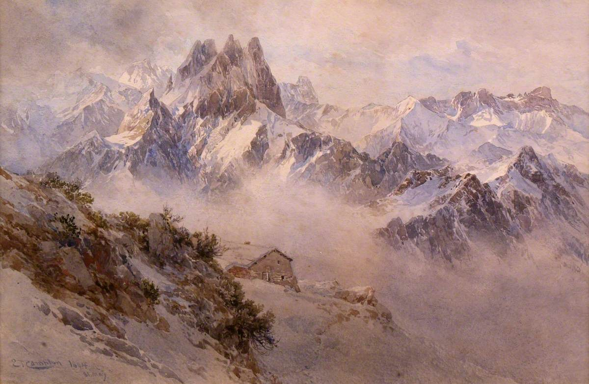 Alpine View with Hut