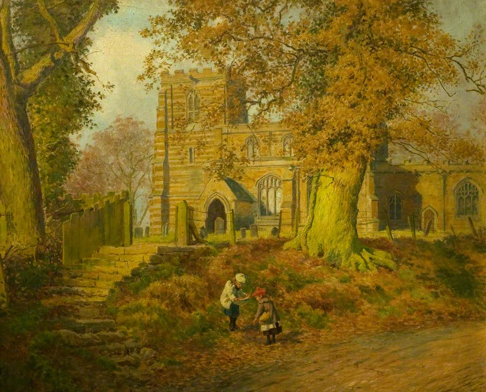 November Sunshine, Lowesby Church, Leicestershire
