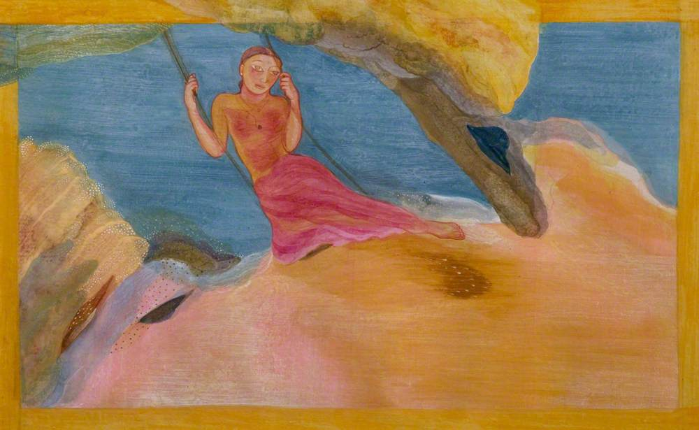 Champa, on the Swing, a Traditional Motif of Love and Girlhood, on the Eve of Her Marriage