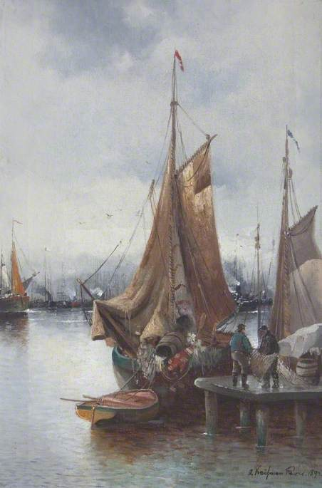 Unloading a Boat at a Quayside, Paris