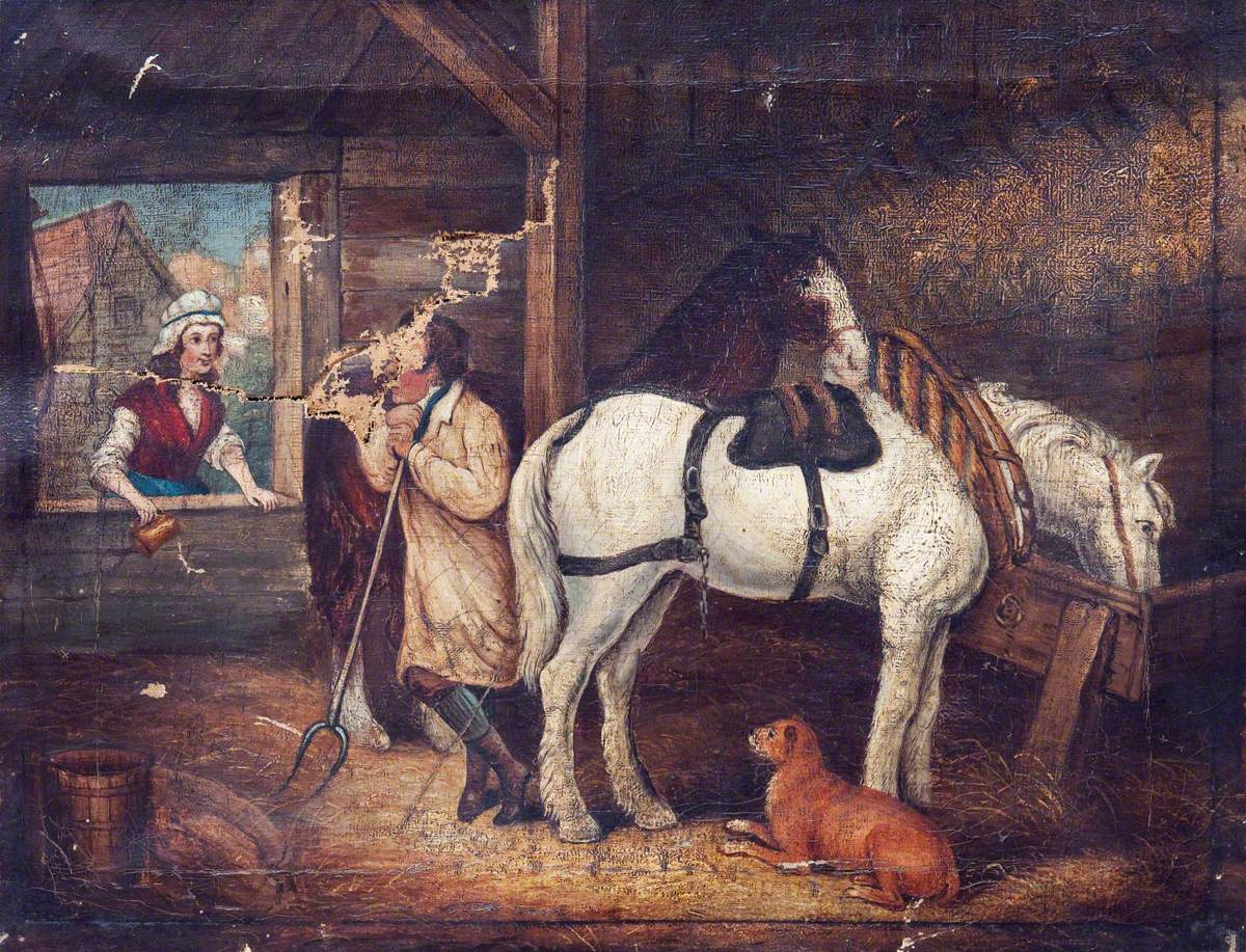 Conversation in a Barn