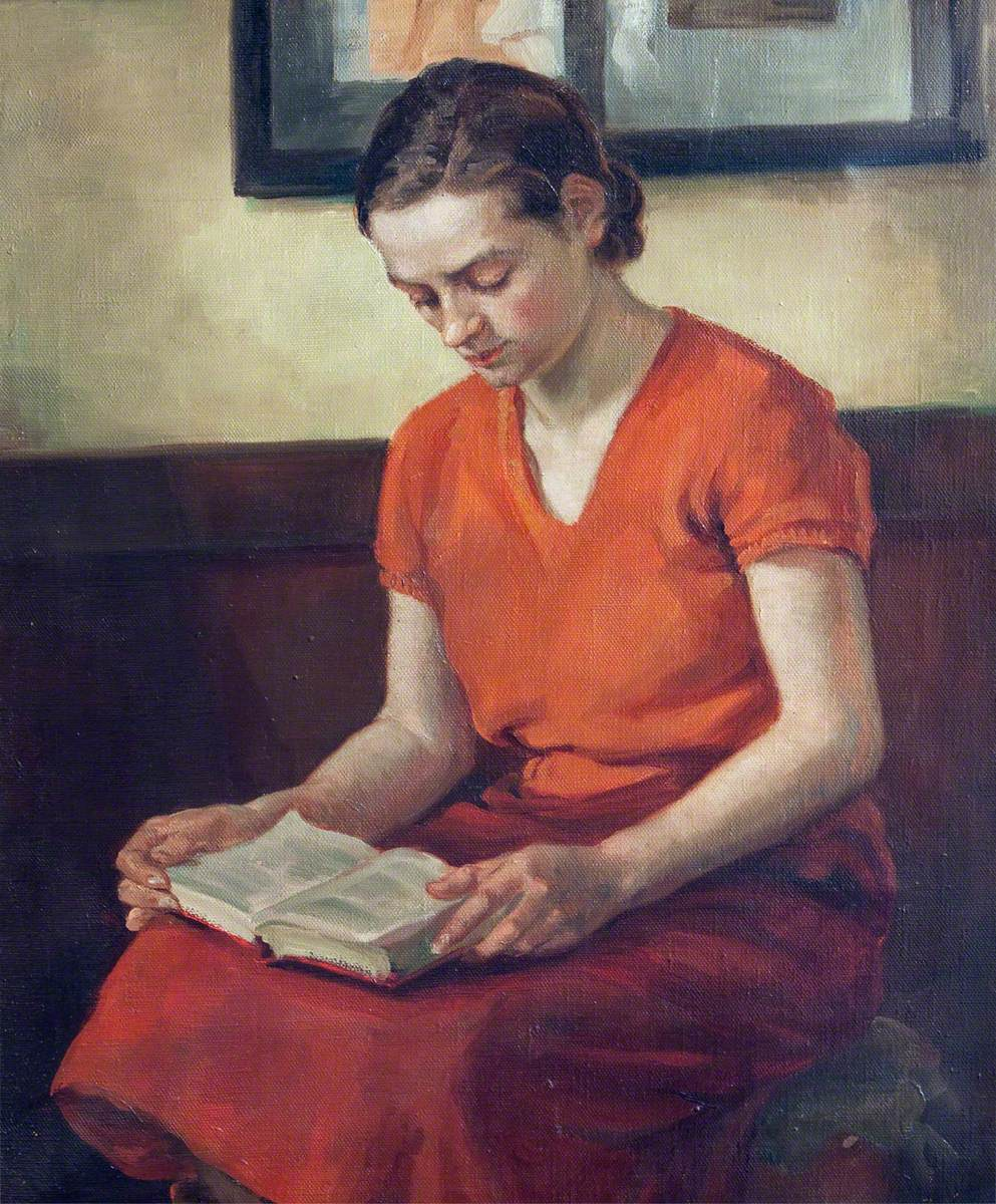 Portrait of a Young Woman Reading