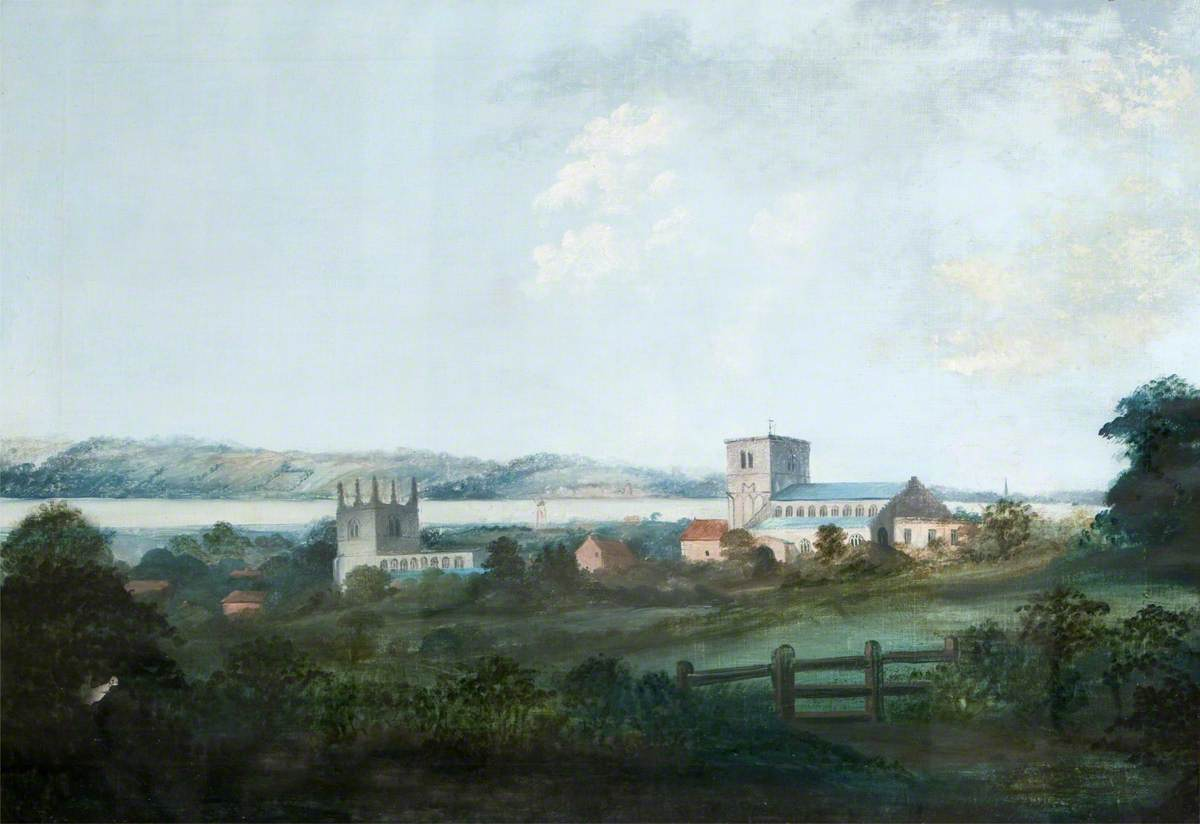 View of the Churches of St Peter and St Mary, Barton-on-Humber, Lincolnshire