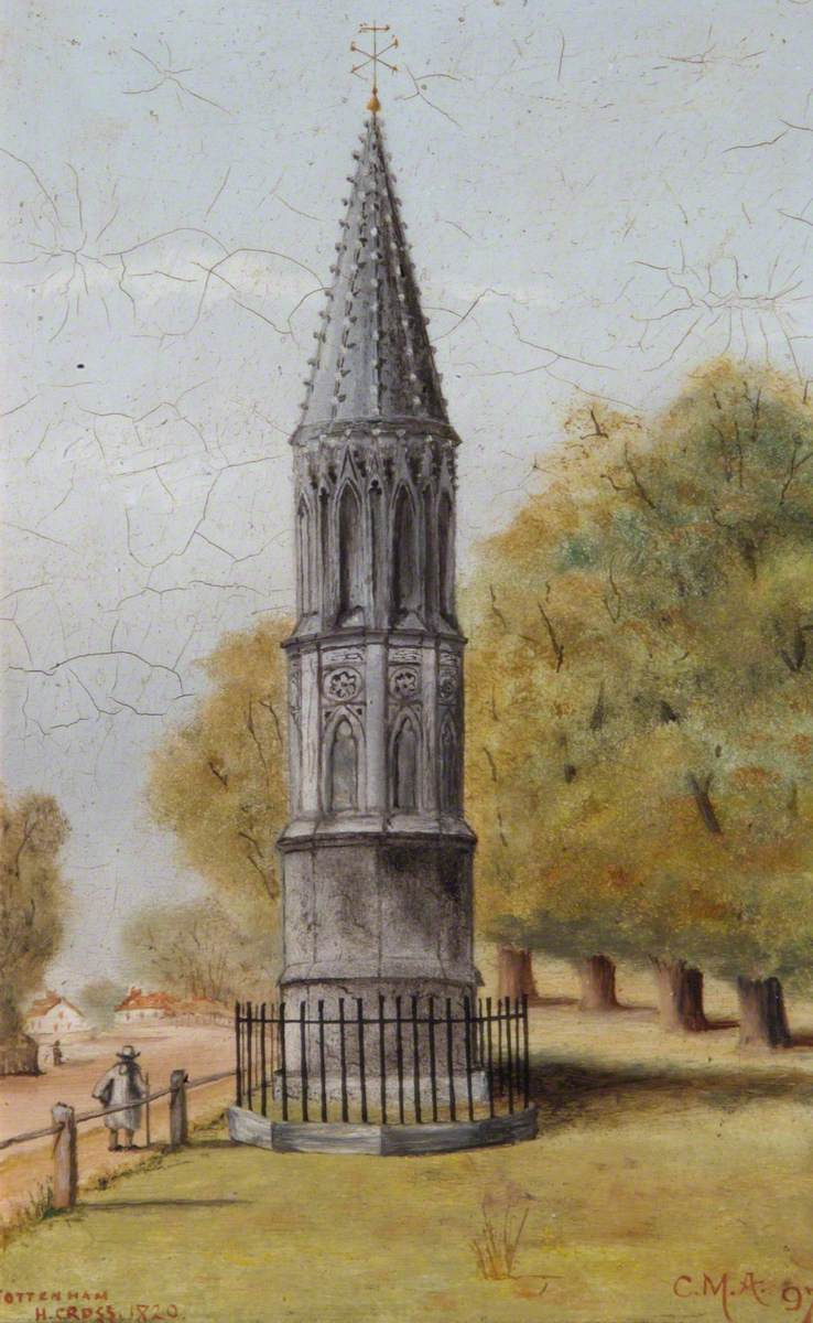 Tottenham High Cross in 1820