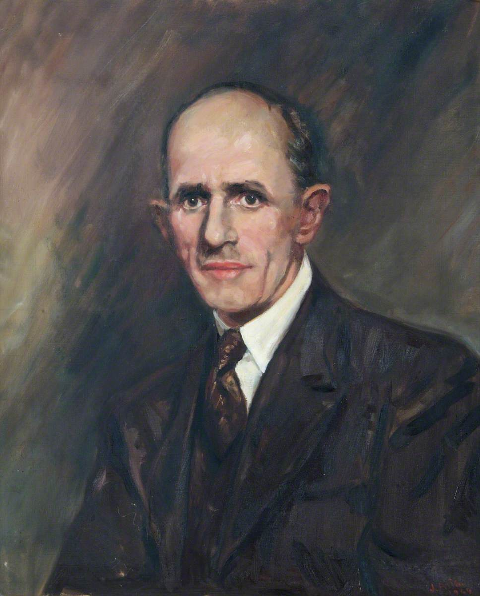 Portrait of an Unknown Man in a Dark Suit and a Tie