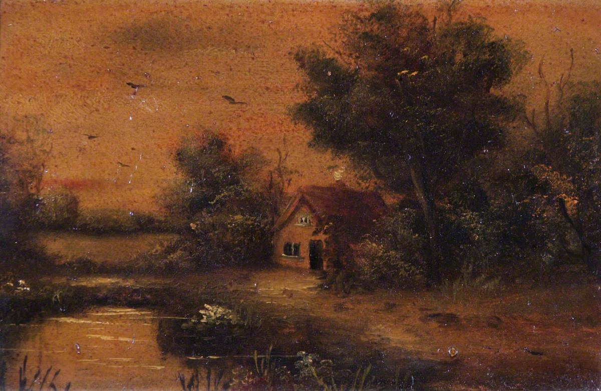 Pond and a Cottage
