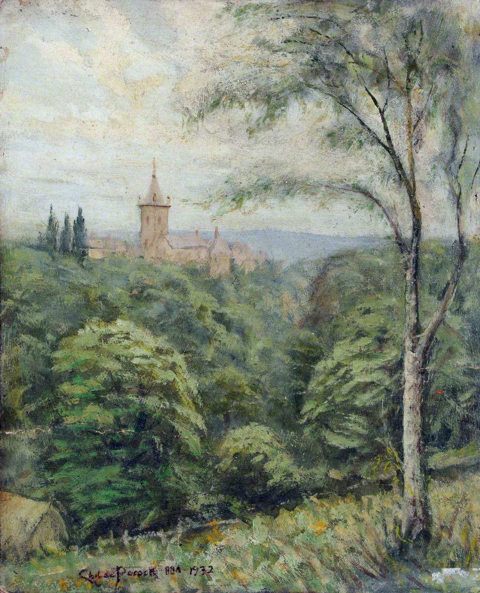 View of St Josephs, Mill Hill from Highwood Hill