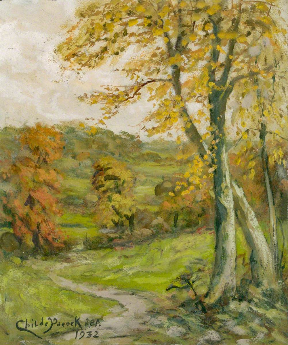 View from The Ridgeway to Totteridge, in Autumn
