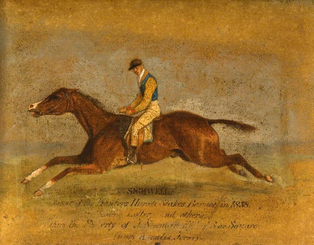 'Sighwell', Winner of the Hunter's Hurdle Stakes, Barnet, with Henry Knowles Up