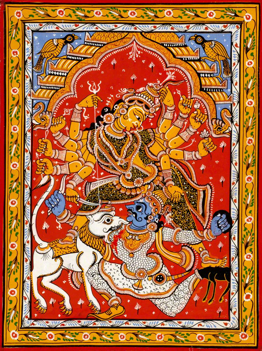 Durga and the Buffalo Demon Mahishasura