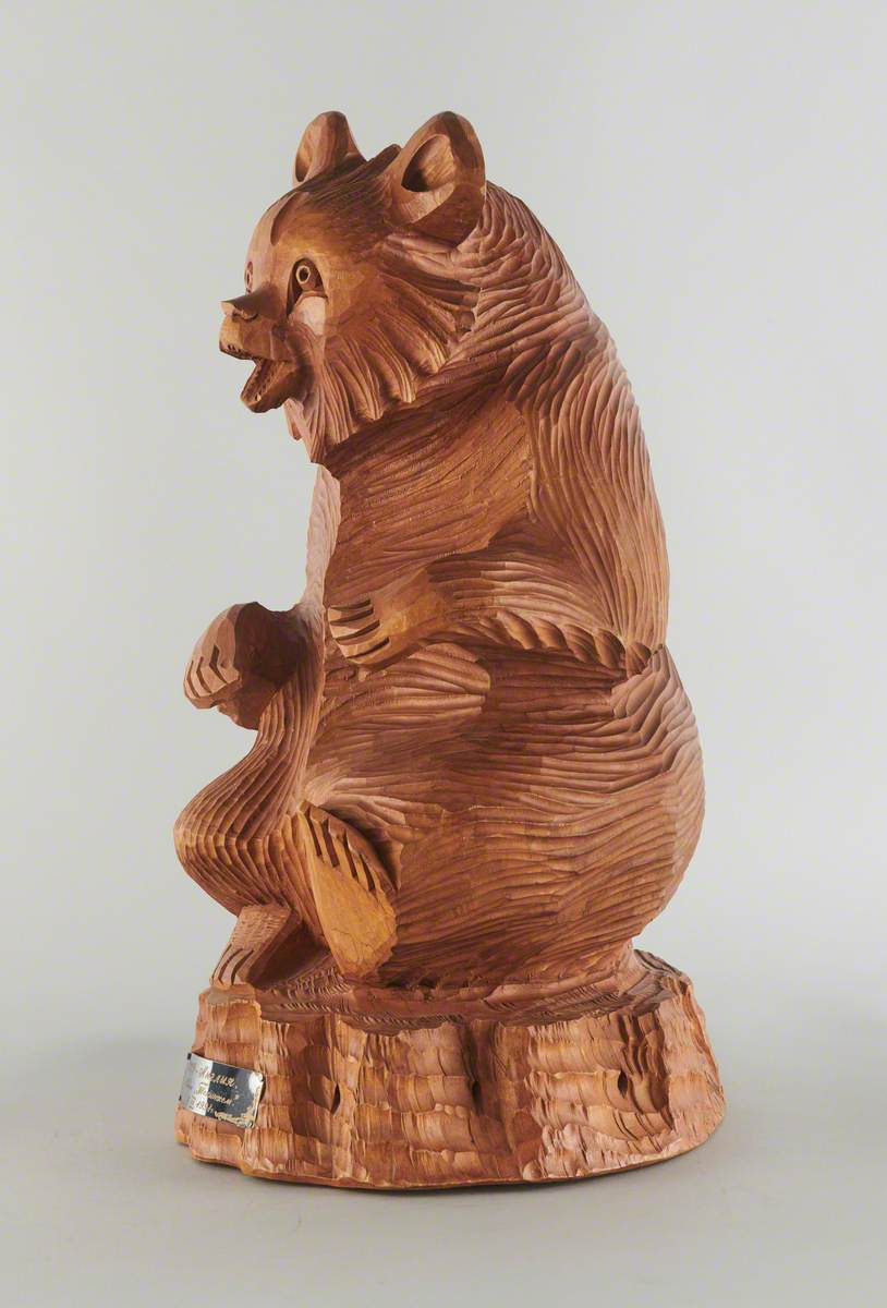 Wooden Carving of a Bear, CCCP