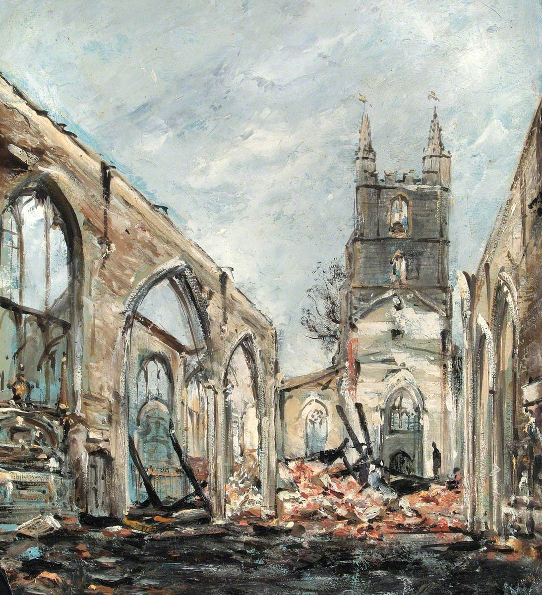 St John's, Croydon, the Morning after the Fire