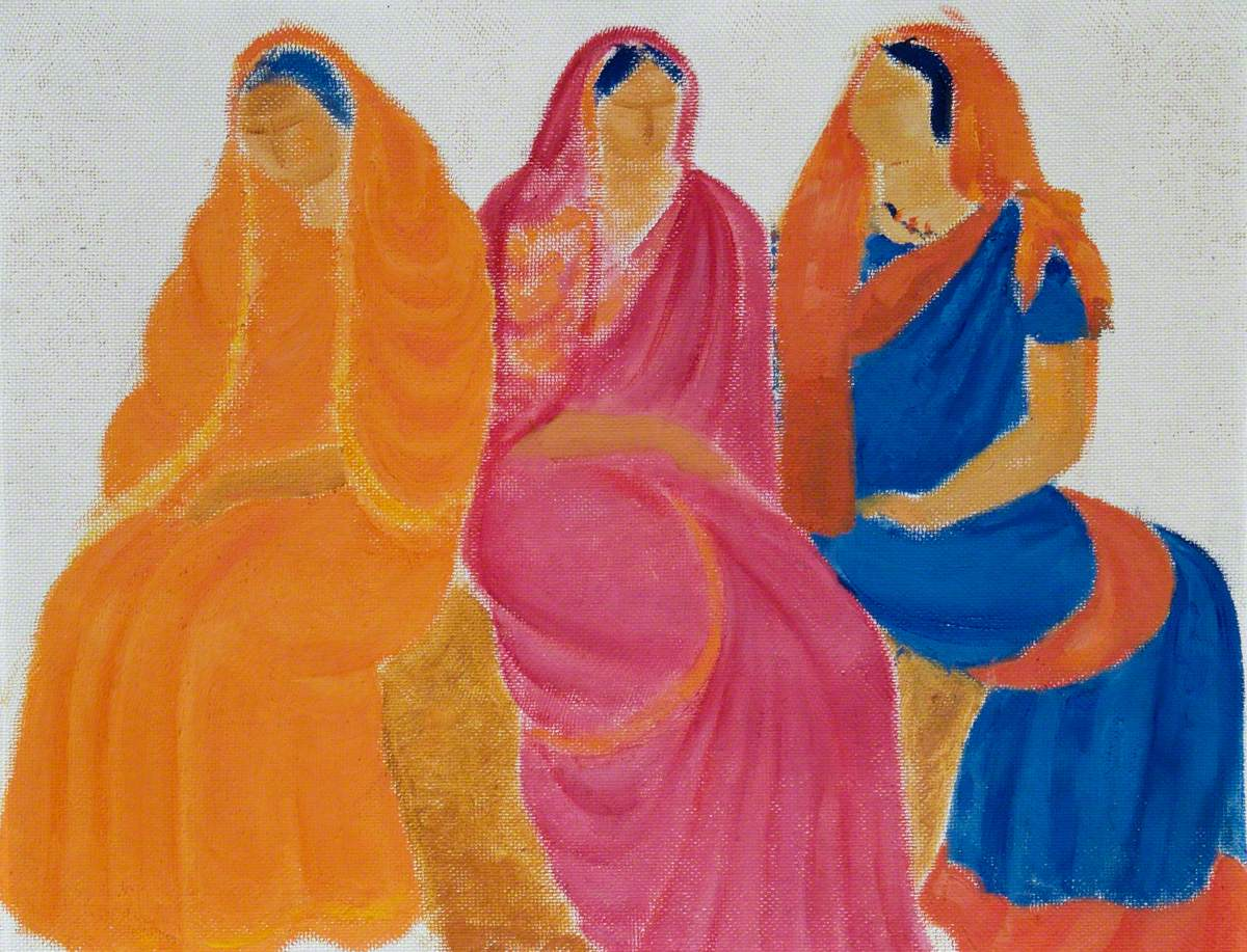 Three Eastern Women in Saris