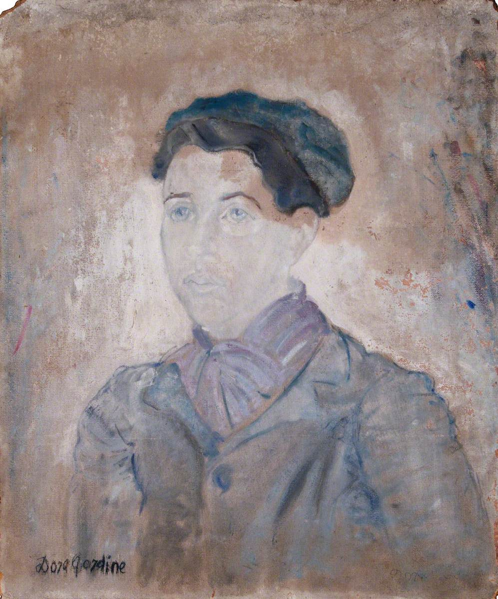 Young Girl in a Blue Beret