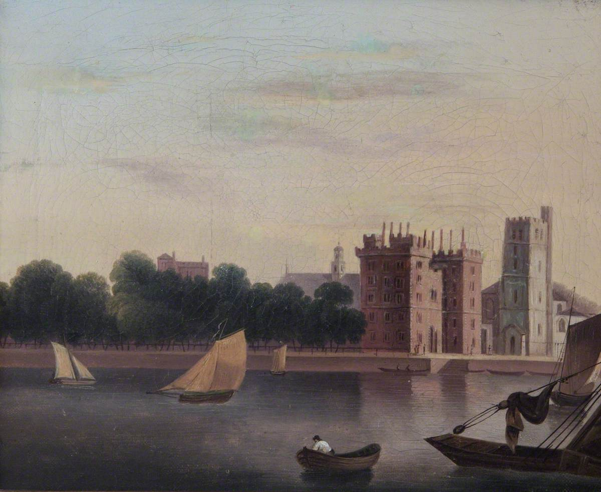 View of Lambeth Palace, London, from across the Thames