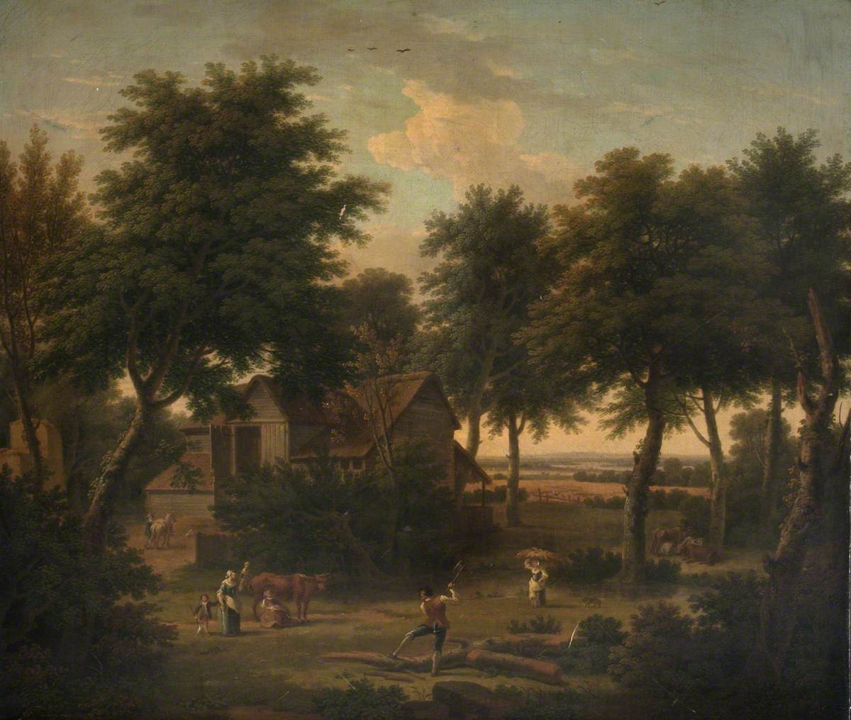 Farmstead with Figures Working