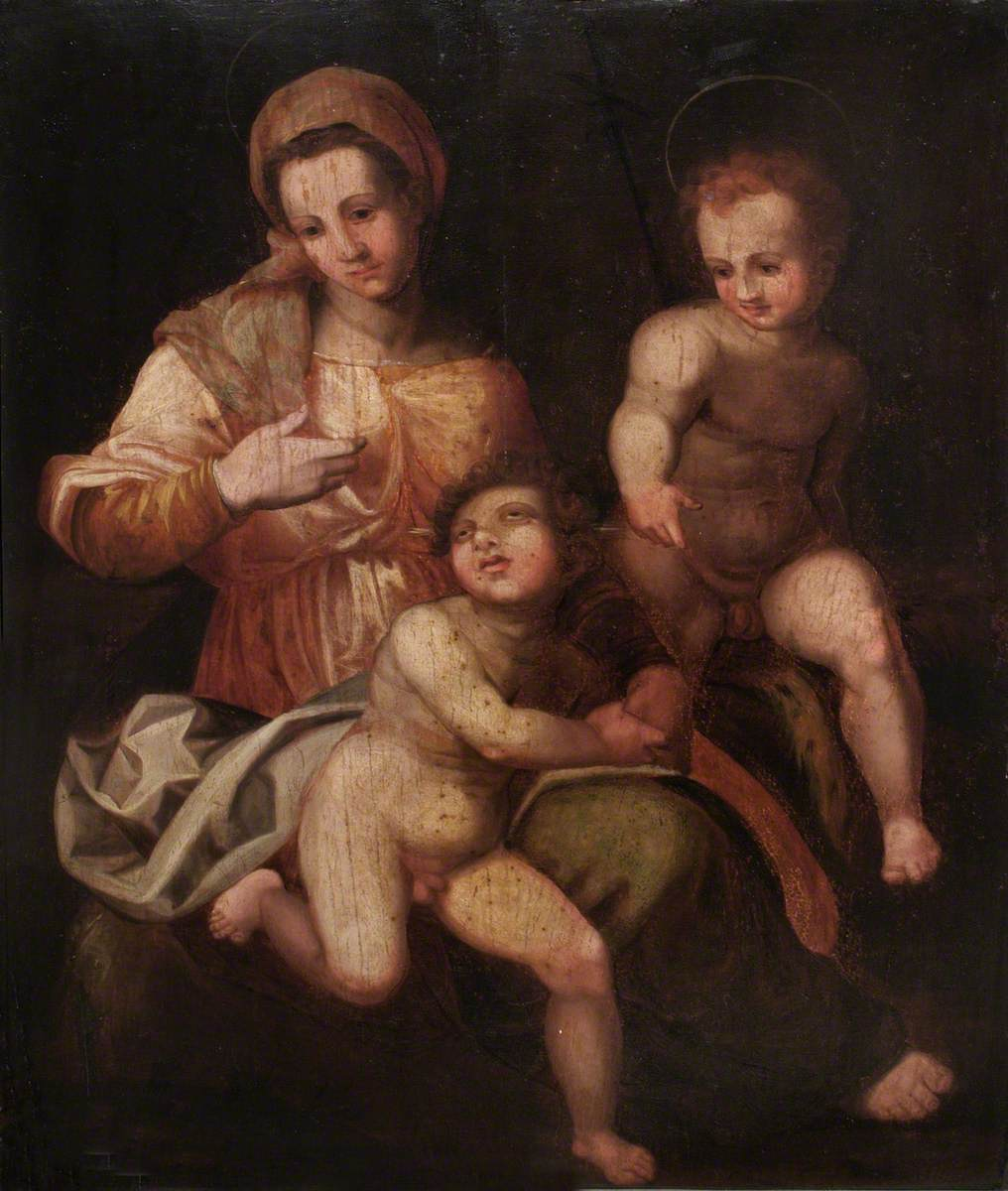 The Blessed Virgin with the Christ Child and Saint John the Baptist