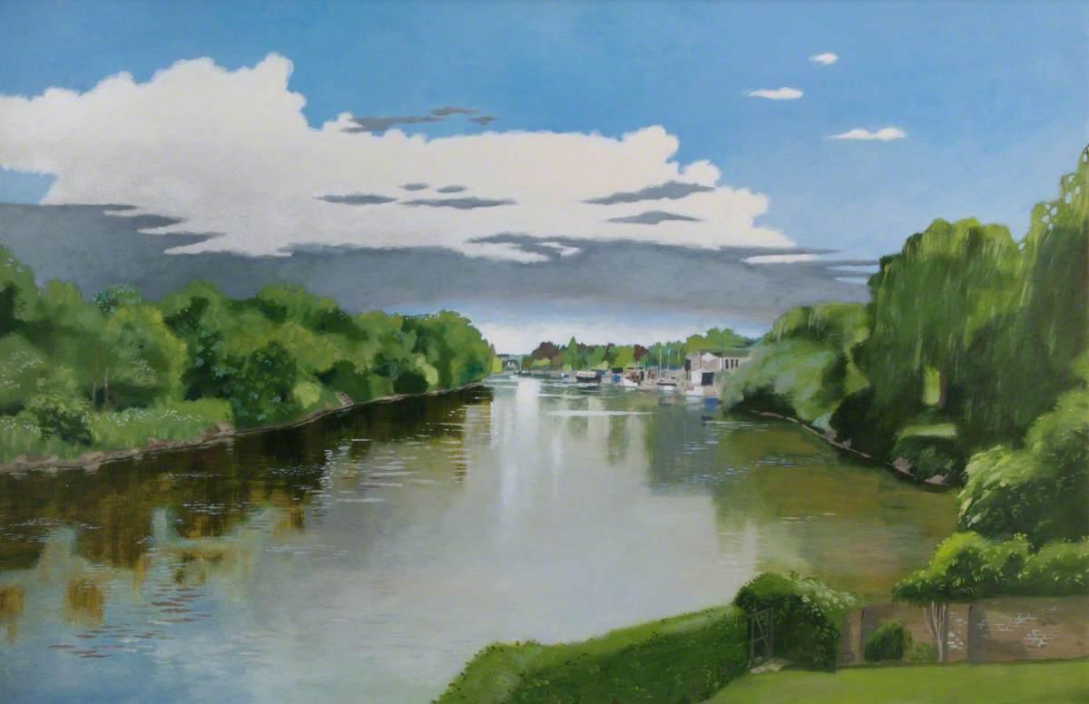 View Upriver, Twickenham, Middlesex