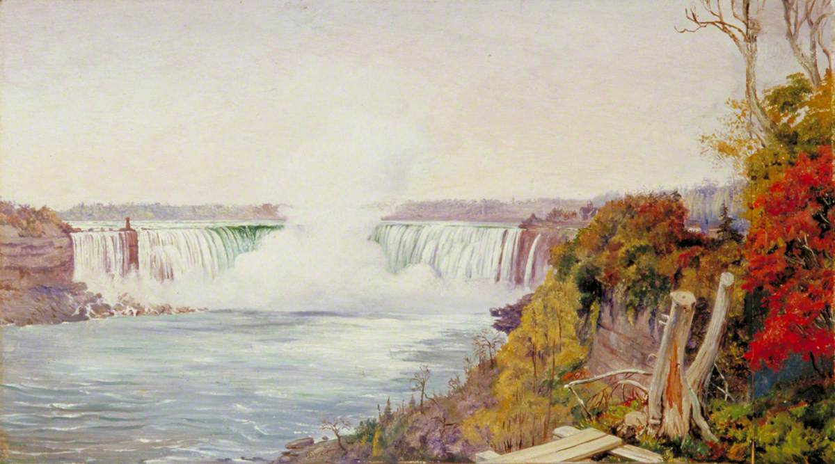 View of Both Falls of Niagara
