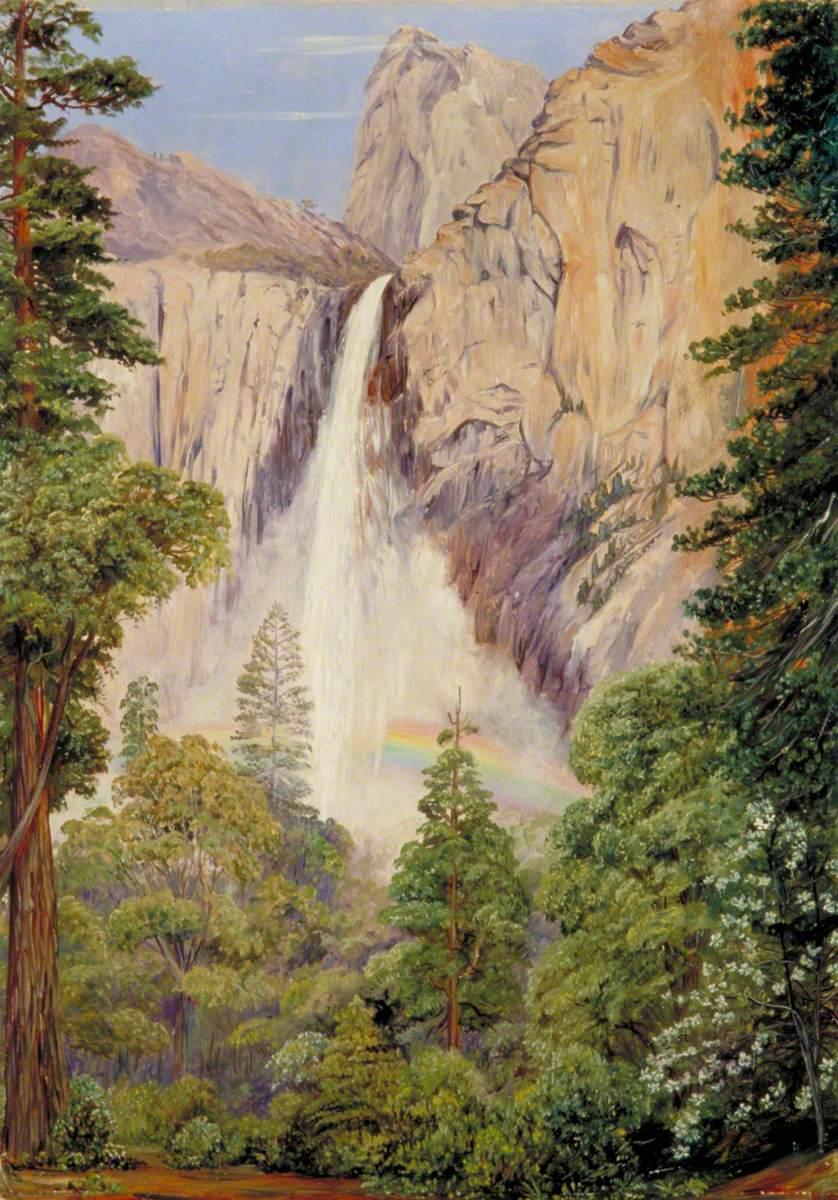 Rainbow over the Bridal Veil Fall, Yosemite, California