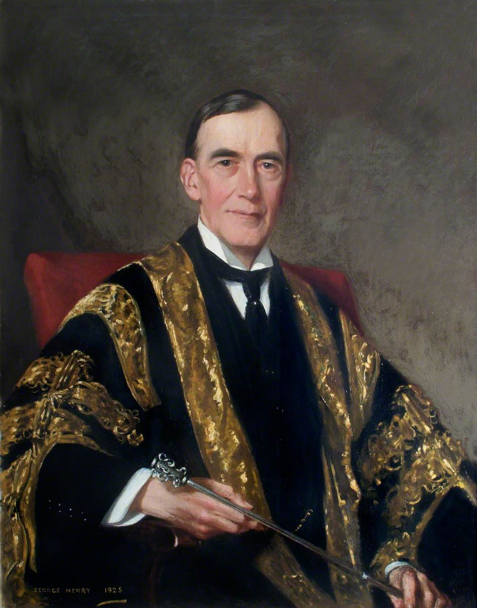 Sir Humphry Davy Rolleston (1862–1944), Seated, Holding a Mace