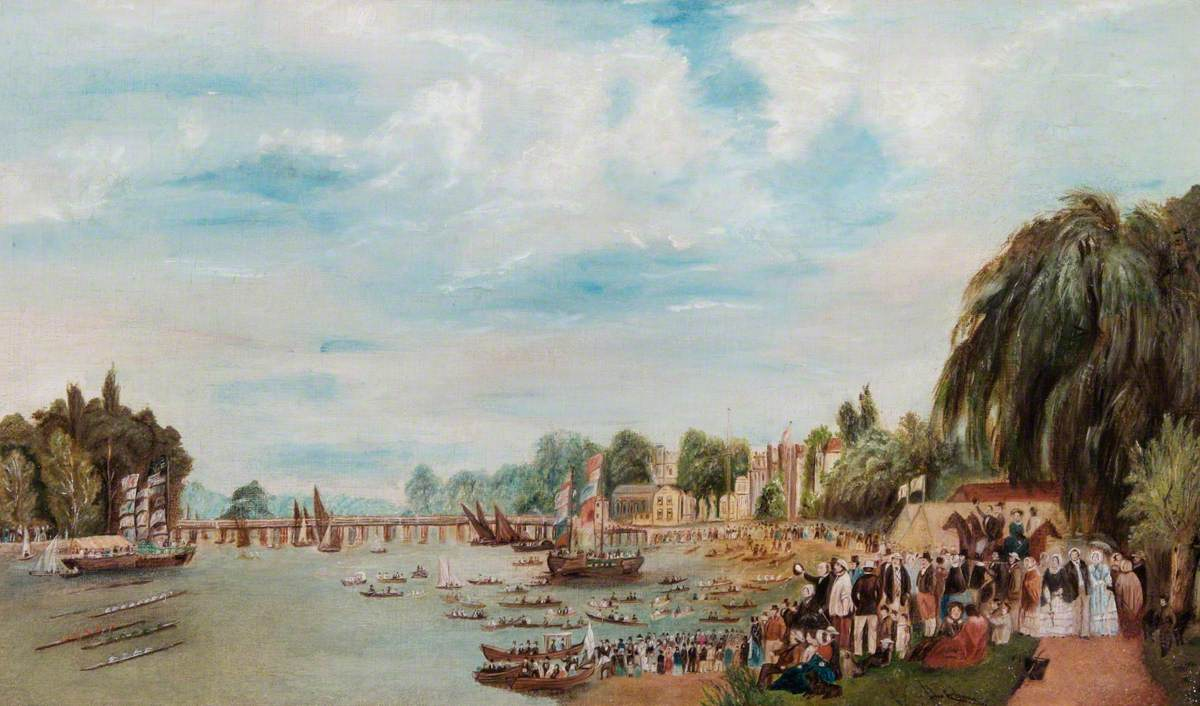 Rowing Match at Putney, London