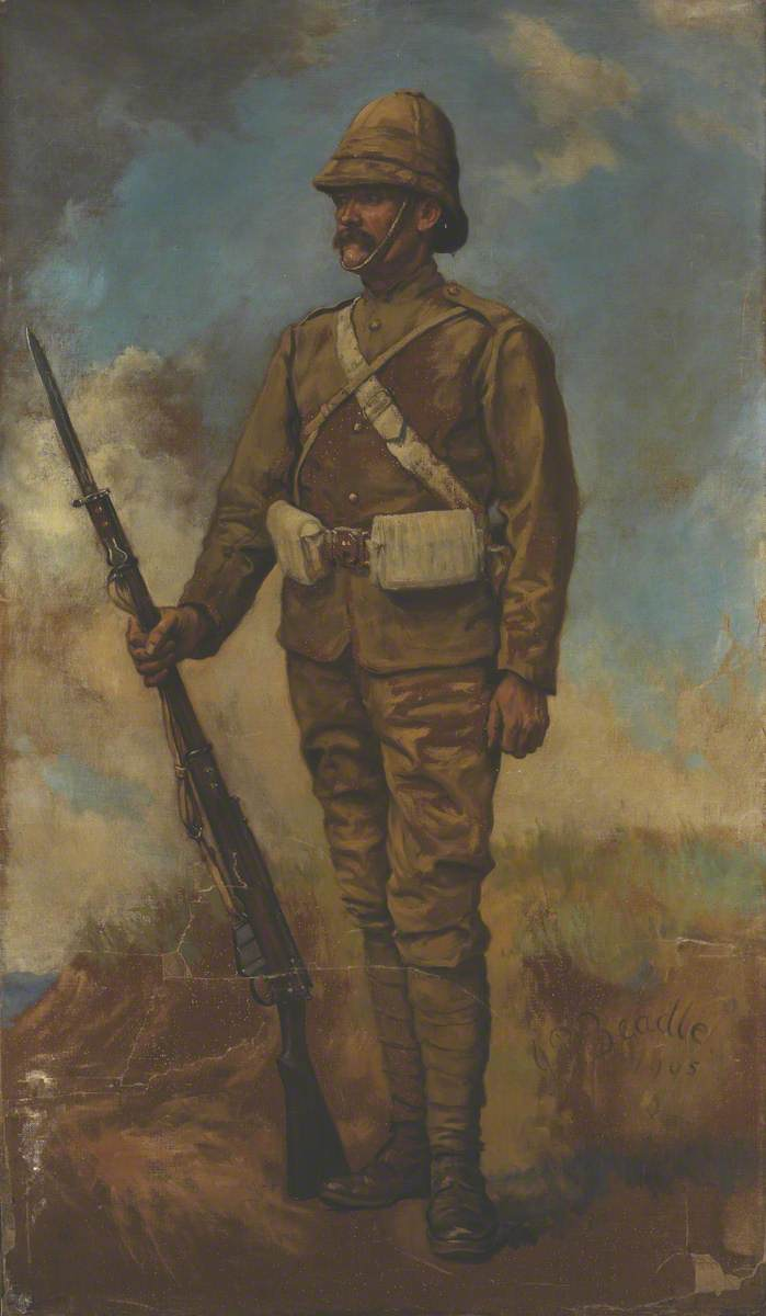 A British Infantryman in Marching Order