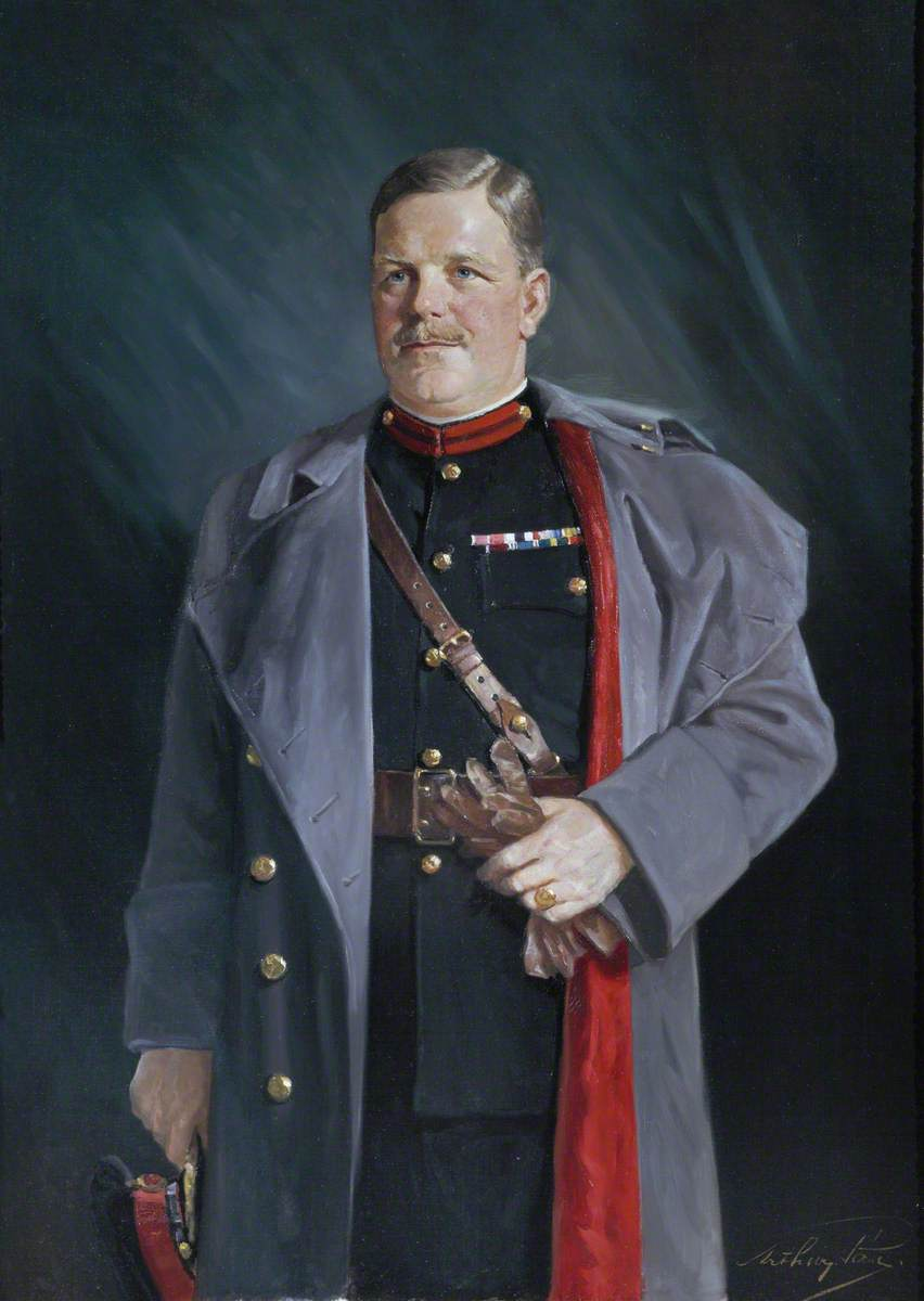 Colonel (later Brigadier Sir) John Kinninmont Dunlop (1892–1974), OBE, MC, TD, PhD, Assistant Adjutant General of the Territorial Army