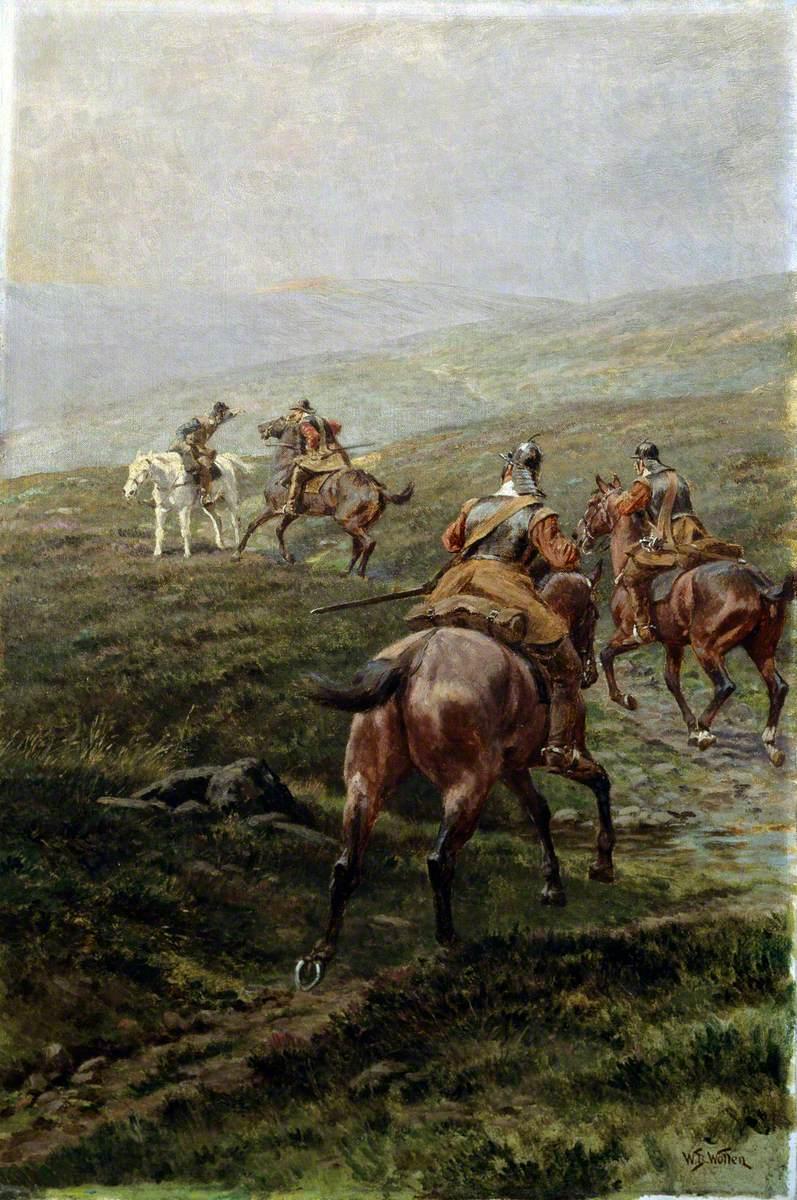 News, Horsemen of the New Model Army Greet a Messenger, c.1645