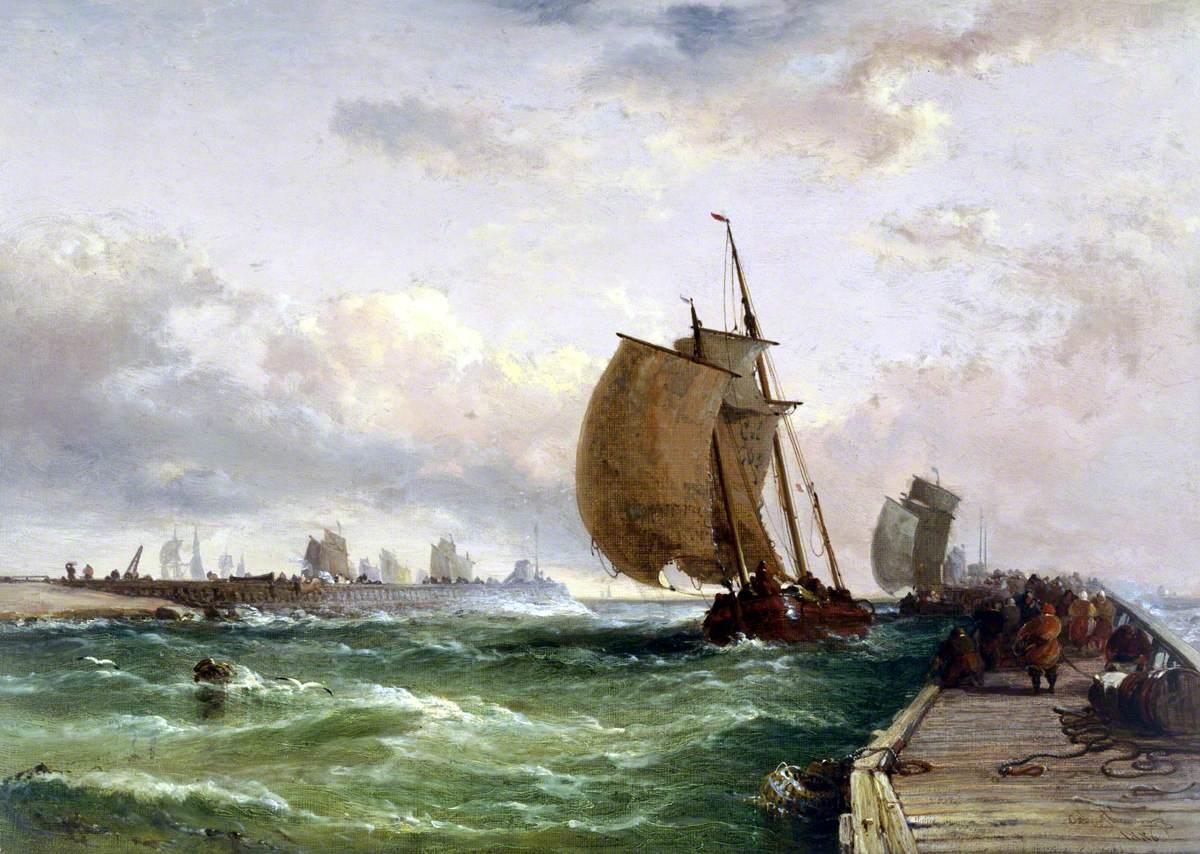 Dutch Luggers Entering Harbour