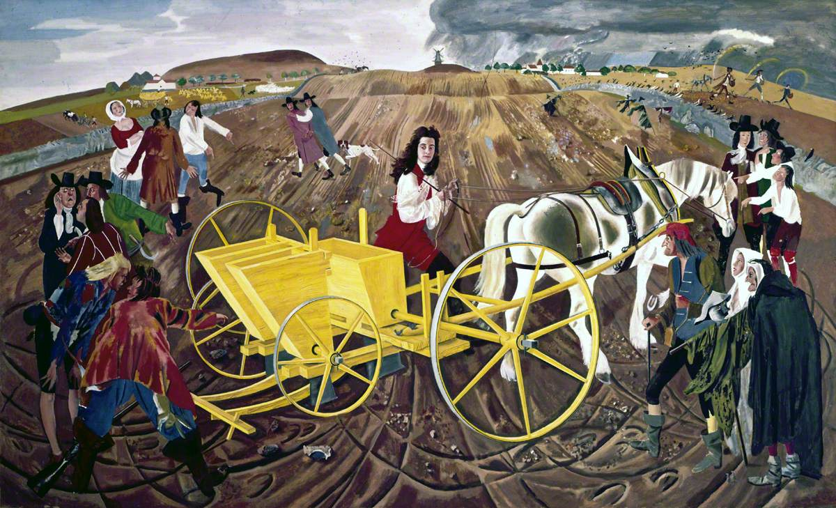Jethro Tull Demonstrating His Seed Drill