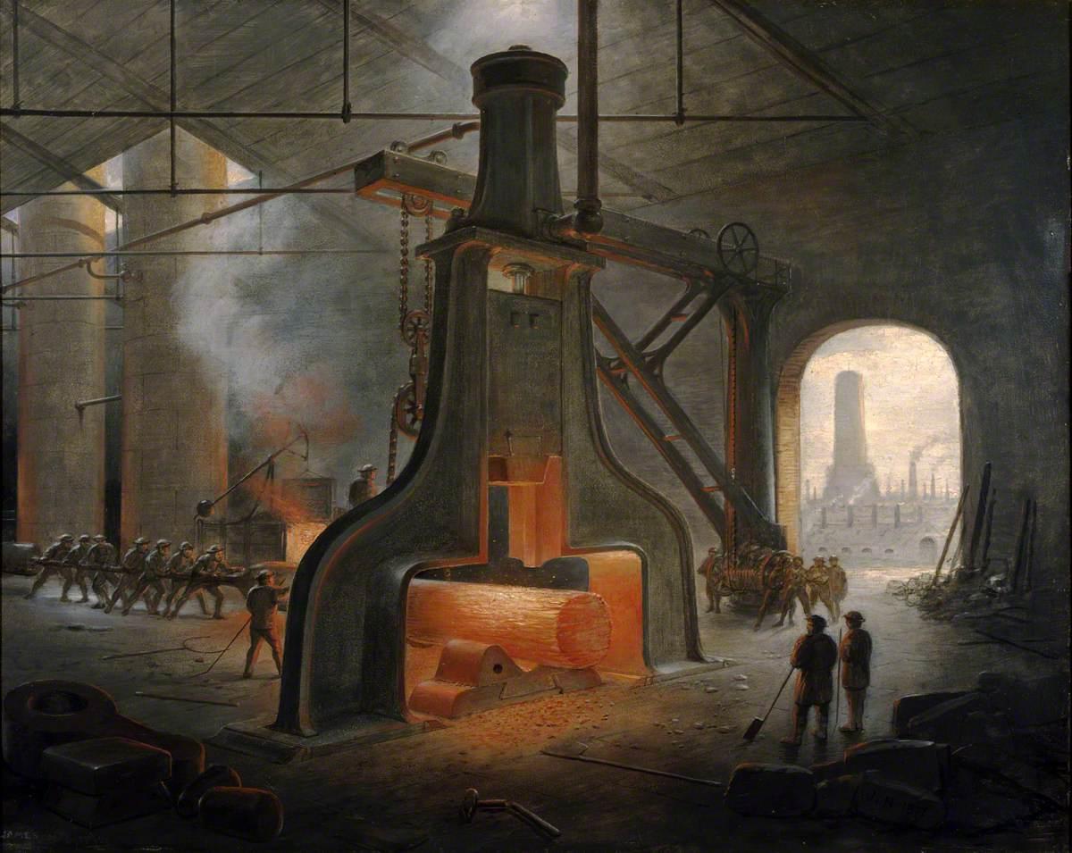 A Steam Hammer at Work